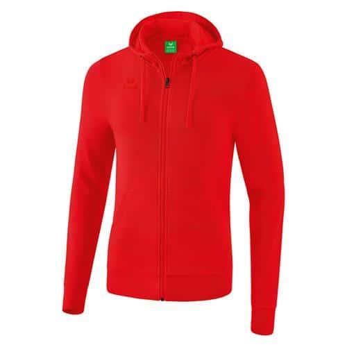 Veste sweat à capuche - Erima - rouge