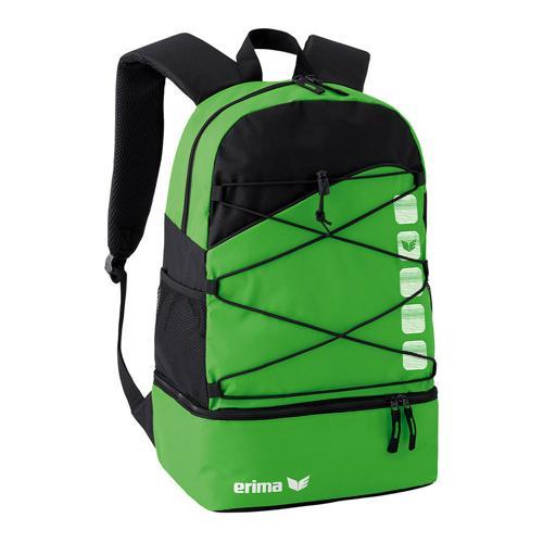 Sac à dos multifonction Erima - club 5 avec compartiment inférieur green/noir