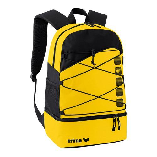 Sac à dos multifonction Erima - club 5 avec compartiment inférieur jaune/noir