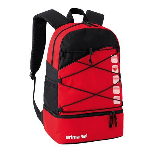 Sac à dos multifonction Erima - club 5 avec compartiment inférieur rouge/noir