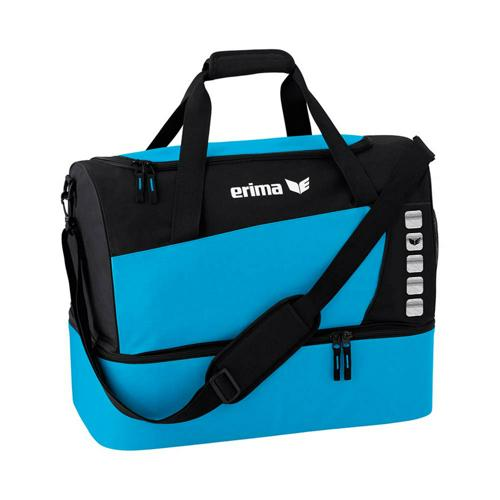 Sac de sport - Erima - club 5 avec compartiment inférieur curaçao/noir taille S