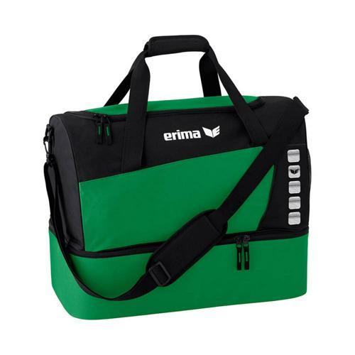 Sac de sport - Erima - club 5 avec compartiment inférieur émeraude/noir taille M