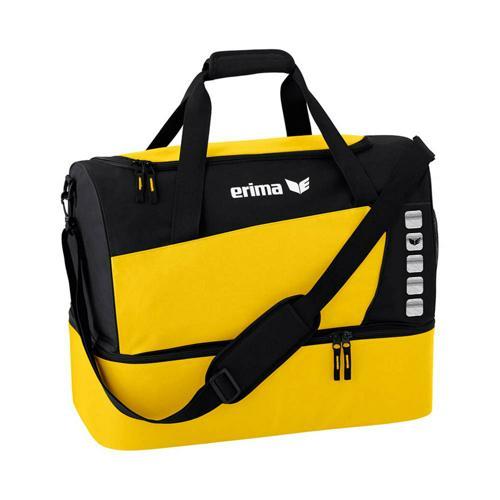 Sac de sport - Erima - club 5 avec compartiment inférieur jaune/noir taille M