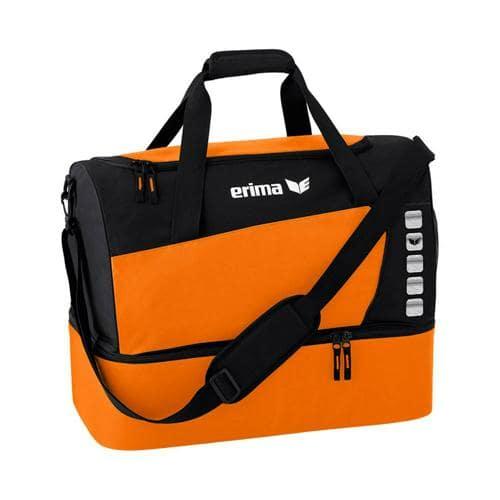 Sac de sport - Erima - club 5 avec compartiment inférieur orange/noir taille M