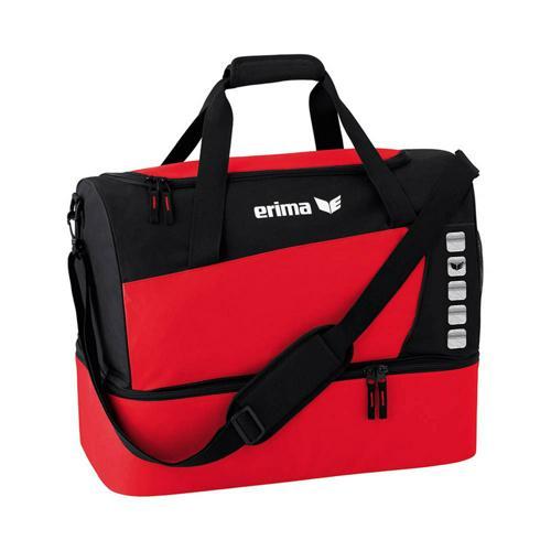 Sac de sport - Erima - club 5 avec compartiment inférieur rouge/noir taille M