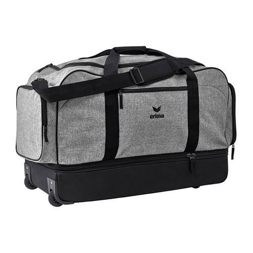 Sac de sport à roulettes Erima - travel line avec compartiment gris chiné/noir taille XL