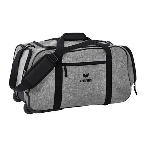 Sac de sport à roulettes Erima - travel line gris chiné/noir taille M