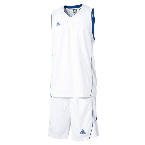 Ensemble maillot/short de basket - Peak blanc/bleu