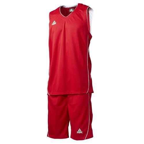 Ensemble maillot/short de basket - Peak rouge/blanc