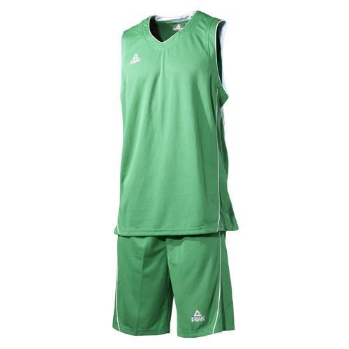 Ensemble maillot/short de basket enfant - Peak vert/blanc