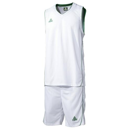 Ensemble maillot/short de basket enfant - Peak blanc/vert