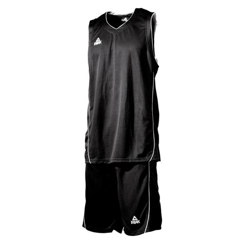 Ensemble maillot/short de basket enfant - Peak noir/blanc