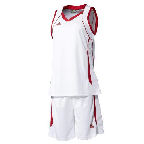 Ensemble maillot/short de basket femme - Peak blanc/rouge