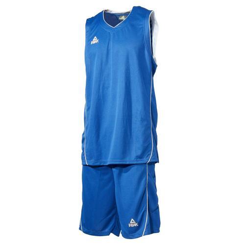 Ensemble maillot/short de basket enfant - Peak bleu/blanc
