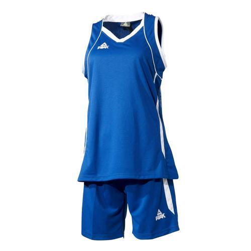 Ensemble maillot/short de basket femme - Peak bleu/blanc