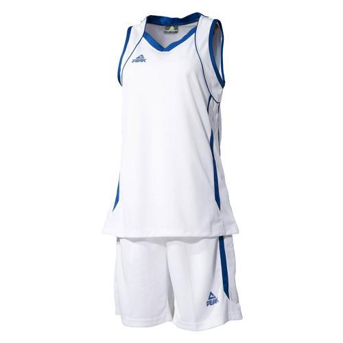 Ensemble maillot/short de basket femme - Peak blanc/bleu