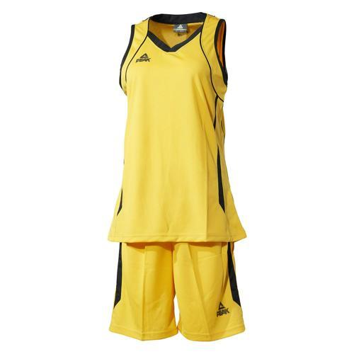 Ensemble maillot/short de basket femme - Peak jaune/noir