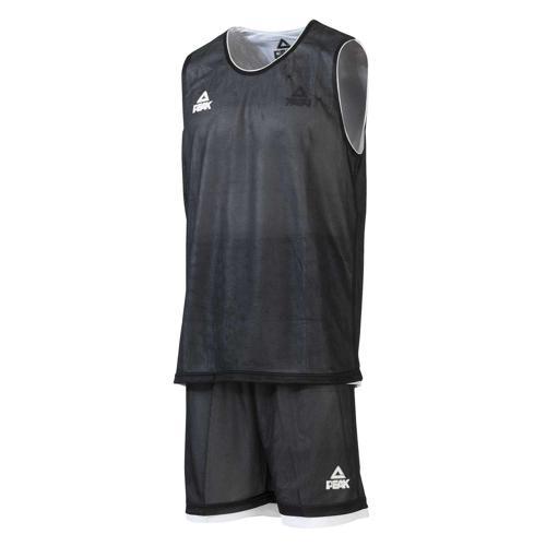 Ensemble réversible de basket enfant - Peak noir/blanc