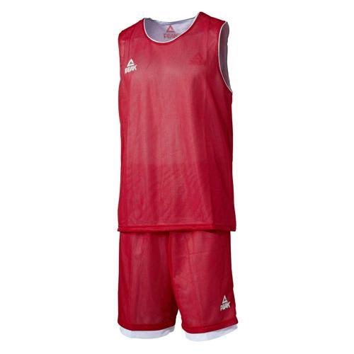 Ensemble réversible de basket enfant - Peak rouge/blanc