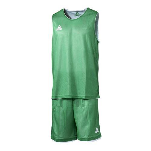 Ensemble réversible de basket adulte - Peak vert/blanc