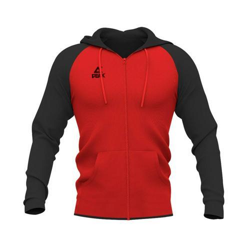 Sweat à capuche zippé enfant Peak rouge/noir