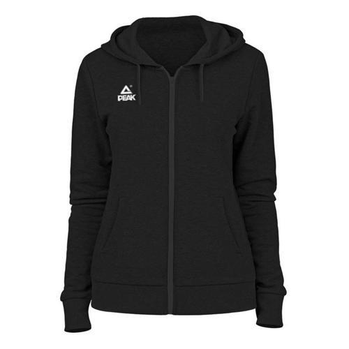 Sweat à capuche zippé femme Peak noir