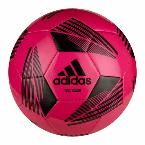 Ballon foot - adidas - Tiro Club taille 5 rose/noir