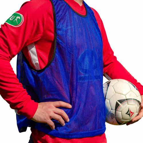 5 Chasubles de sport bleu