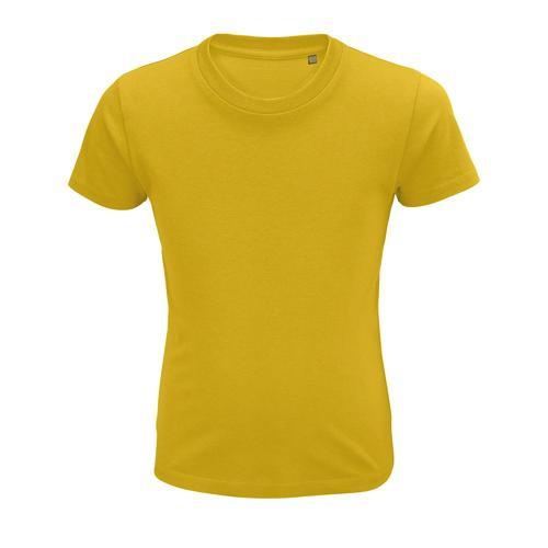 Tee-shirt personnalisable enfant coton organique bio JAUNE