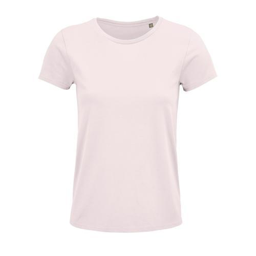 Tee-shirt personnalisable femme coton organique bio ROSE PÂLE
