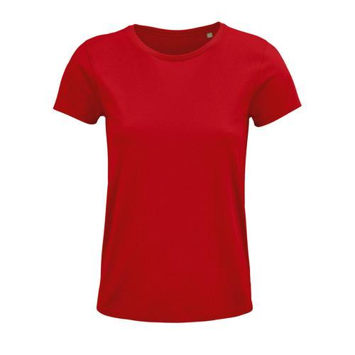 Tee-shirt femme coton organique bio ROUGE