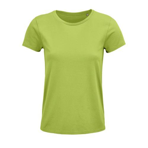 Tee-shirt femme coton organique bio VERT POMME