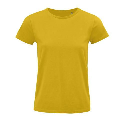 Tee-shirt femme coton organique bio JAUNE