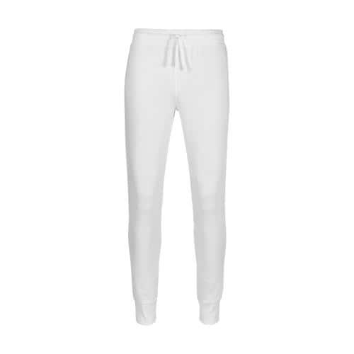Pantalon de jogging femme en coton BLANC