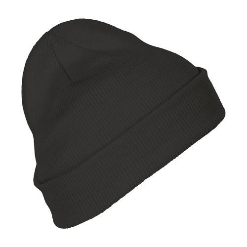 Bonnet avec revers en acrylique GRIS FONCE