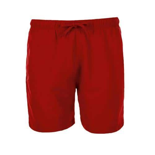 Short personnalisable de bain homme en polyester ROUGE