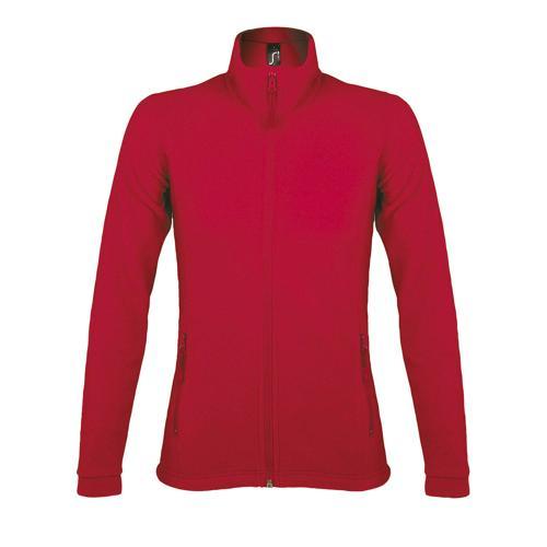 Veste femme micropolaire zippée en polyester ROUGE