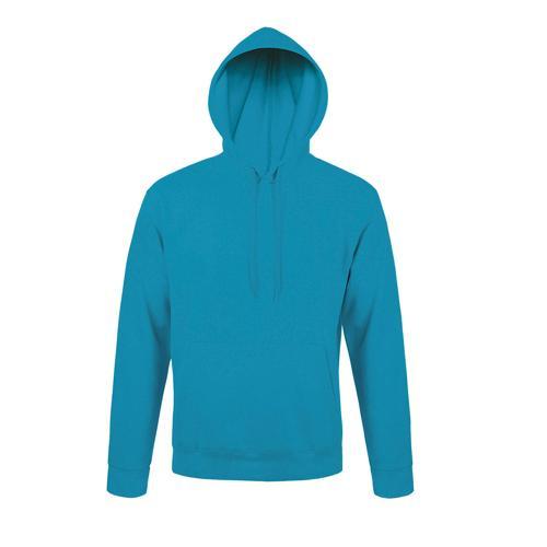 Sweat-shirt à capuche en coton AQUA