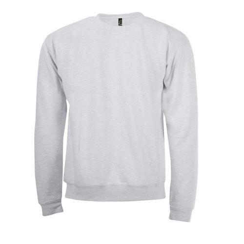 Sweat-shirt col rond en coton BLANC CHINÉ
