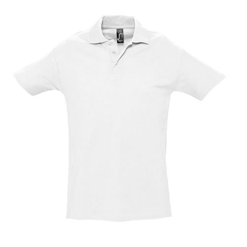 Polo homme en coton BLANC