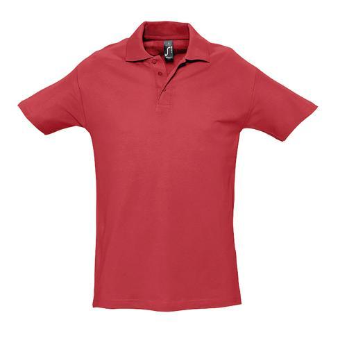 Polo personnalisable homme en coton ROUGE