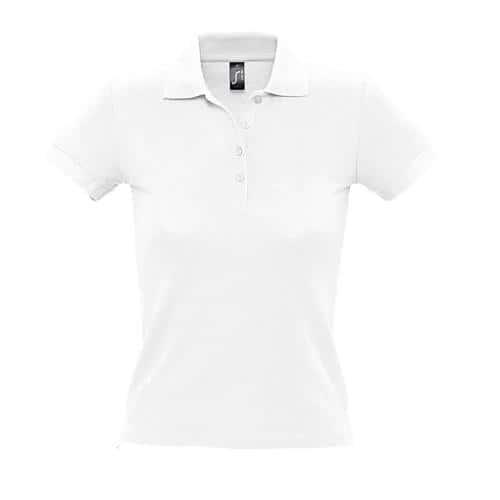 Polo personnalisable femme en coton BLANC