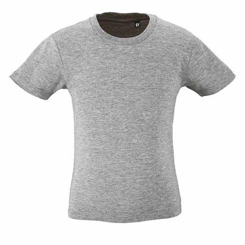 Tee-shirt personnalisable enfant en coton organique bio GRIS CHINÉ