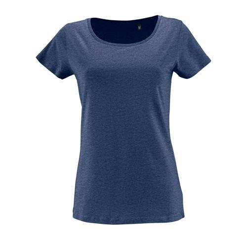 Tee-shirt femme en coton organique bio DENIM CHINE