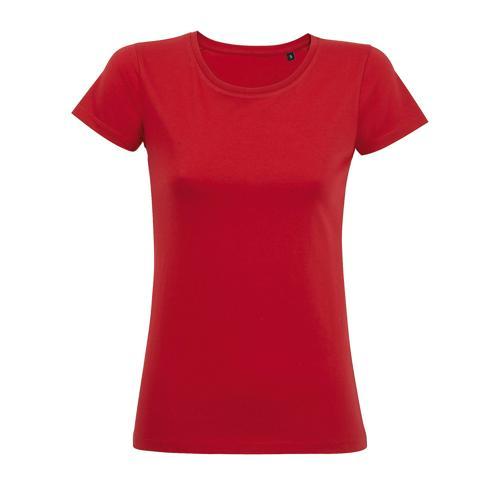 Tee-shirt personnalisable femme en coton organique bio ROUGE