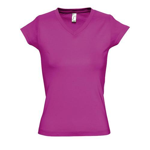 Tee-shirt femme en coton FUCHSIA