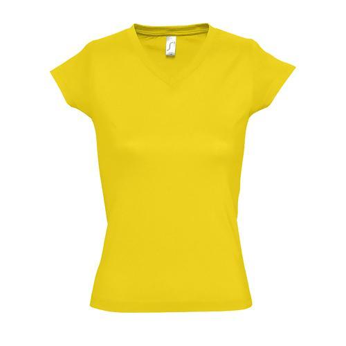 Tee-shirt personnalisable femme en coton JAUNE