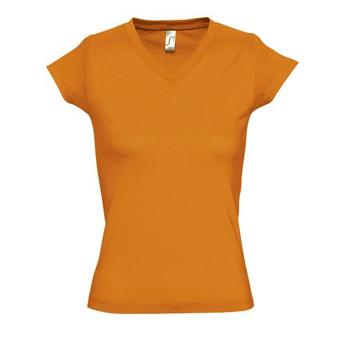 Tee-shirt femme en coton ORANGE