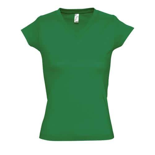 Tee-shirt femme en coton VERT PRAIRIE