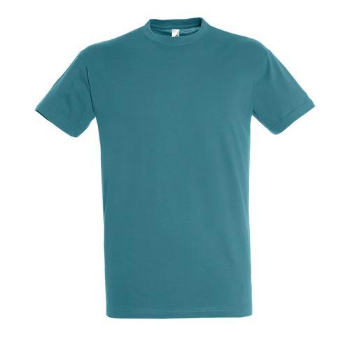 Tee-shirt homme en coton BLEU CANARD